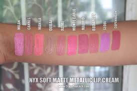 nyx soft matte metallic lip cream