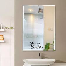 You Re Beautiful Mirror Decal Wall Sticker Toilet Decal Bathroom Wall Quote Home Decorations Living Room Home Decor Wall Stickers Aliexpress