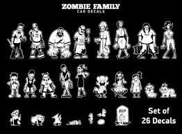 Zombie Family Car And Vehicle Decals Zombiegift Com