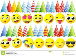 Iconos De Emoji Del Feliz Cumpleanos Ilustracion Del Vector