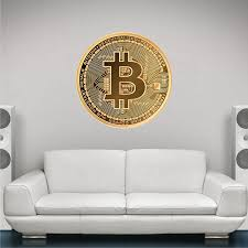 Amazon Com Stickit Graphix 36 Bitcoin Removable Vinyl Wall Decal Crypto Currency Crypto Etherium Litecoin Btc Money Logo Home Office Decor Gift For Him Home Kitchen
