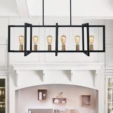 light rectangle chandelier