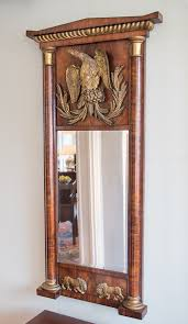 classical mahogany wood carved mirror