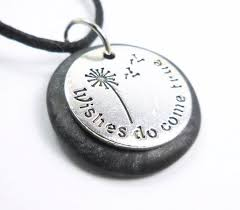 wishes do come true necklace word