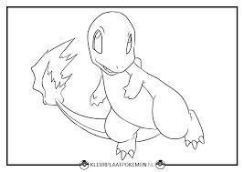 Charmander Kleurplaat Downloaden Kleurplaat Pokemon