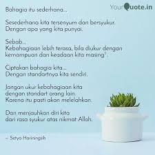 bahagia itu sederhana quotes writings by setya
