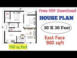 30 x 30 east facing house plan 900