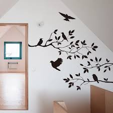 Amazon Com Bibitime Black Tree Branch 5 Birds Wall Art Sticker Vinyl Crow Decals For Living Room Nursery Home Mural Pvc Decoration Diy 23 62 Inches X 17 32 Inches Arts Crafts Sewing
