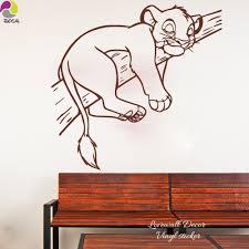 Cartoon Simba Lion King Wall Sticker Baby Nursery Kids Room Cute Animal Cat Branch Tree Wall Decal Vinyl Home Decor Art Mural Petgazue For Pets