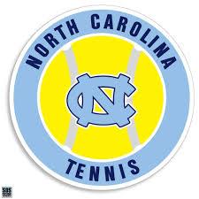 North Carolina Tar Heels Tennis Vinyl Decal Shrunken Head