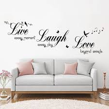 Live Laugh Love Music Birds Wall Art Sticker Modern Wall Decals Quotes Vinyls Bedroom Home Decor Living Room Poster Zx584 Wall Stickers Aliexpress