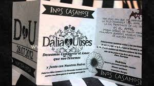 Invitaciones Para Boda Blanco Y Negro Youtube