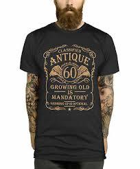 60th birthday t shirt gift idea for men