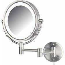 led lighted wall mount makeup mirror