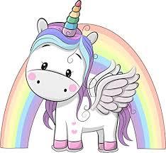 Unicorn Rainbow Wall Sticker Girls Bedro Buy Online In Egypt At Desertcart