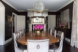 dining room with antique mirror wall