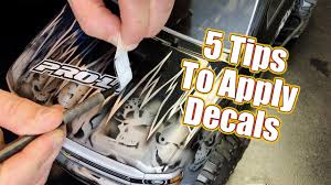 Don T Mess Up 5 Techniques To Apply Decals Youtube
