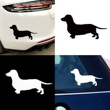 Water Resistant Cute Dachshund Dog Car Styling Vehicle Body Window Decals Sticker Sun Protection High Stickiness Car Decoration Car Stickers Aliexpress