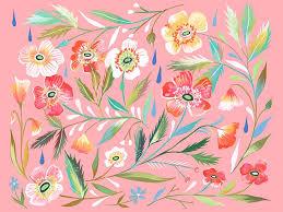 Wheatpaste Anemone Garden By Katie Daisy Wall Decal Wayfair
