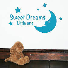 Sweet Dreams Little One Kids Wall Words Quotes Wall Sticker Decal Murals W18 Ebay