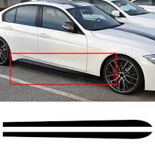 2020 Car Door Side Skirts Stickers Black Cars Bodys Decal Stripe Sticker For Bmw 3 Series F30 F31 E90 Auto Exterior Accessories From Out2244 20 2 Dhgate Com