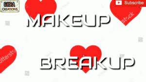 makeup te breakup best whatsapp status