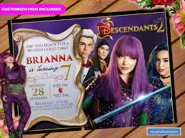 Descendants 2 Birthday Invitation Invitaciones De Descendientes