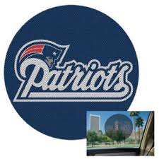 Wincraft New England Patriots Official Perforated Window Decal