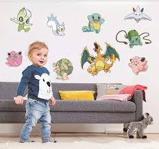 Monster Pokemon Wall Stickers Nursery Boys Room Wall Decals Independence