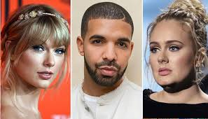 Adele, Taylor Swift, Drake crowned artists of decade with top ...