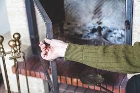 wood burning fireplace need glass doors