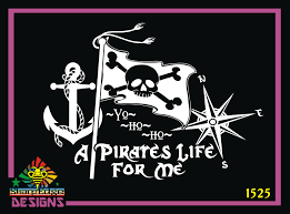 Anchor Pirate Flag And Compass Rose A Pirate S Life For Me Vinyl Decal