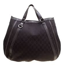 gucci dark brown gg canvas and leather