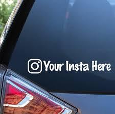 Instagram Insta Custom Window Decal Sticker Custom Sticker Shop