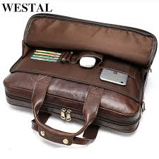 leather bag men s briefcase office bags