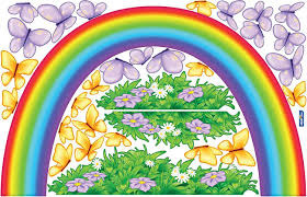 Amazon Com Istickup Over The Rainbow Removable Wall Decal L Multi Home Kitchen