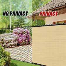 Colourtree 6 Ft X 50 Ft Beige Privacy Fence Screen Mesh Fabric Cover Windscreen With Reinforced Grommets For Garden Fence Tap0650 3 The Home Depot