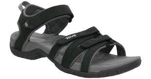 teva tirra leather sandals black women