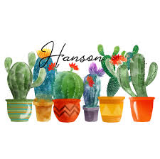 Cactus Plants Personalized Window Decal Bumper Sticker Car Window Decal Vinyl Car Decal Yeti Tumbler Decal Wall Decal Laptop Decal Peel And Stick Vinyl Decals