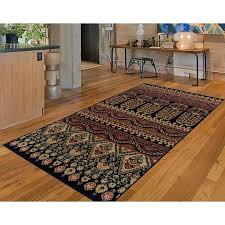saylorsburg ikat brown black area rug