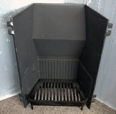 cast iron fire back with fire grate