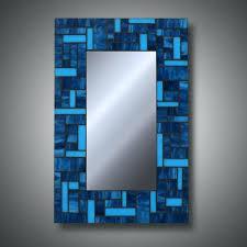 mosaic mirror rectangular stained glass
