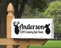 Personalized Name Deer Head Patterned Wall Sign Decal Mailbox Signs Stickers Art Design Vinyl Sticker Custom Family Name M081 Wall Stickers Aliexpress