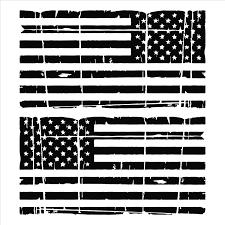 Amazon Com American Flag Distressed Vinyl Decal Dark Grey 1 Left 1 Right 0099 Garden Outdoor