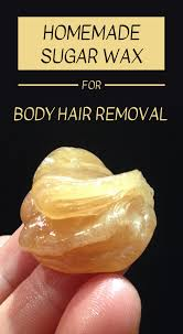 sugar wax for body hair removal