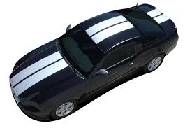 2013 2014 Ford Mustang Racing Stripes Thunder Hood Rally Decals Vinyl Graphics Kit