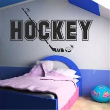 Hockey Wall Sticker Kids Bedroom Ice Sport Home Decor Transfers Decal Artvinyl Stickers Wall Arts Wallpapers Kids Bedroom Hockey Wall Stickerswall Sticker Aliexpress