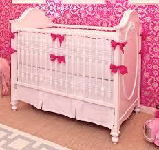 white hot pink crib bedding set