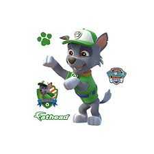 Fathead Rocky Large Officially Licensed Paw Patrol Removable Wall Decal Paw Patrol Fathead