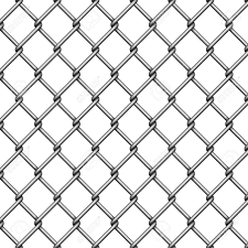 Chain Link Fence Steel Wire Mesh On White Background Vector Royalty Free Cliparts Vectors And Stock Illustration Image 109734702